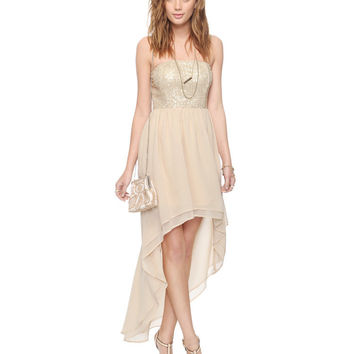 Sequined High-Low Dress   FOREVER21 - 2000042554