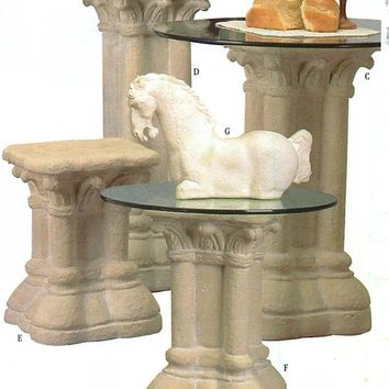 Gothic 12th Century Pedestal Table Base, Assorted Sizes