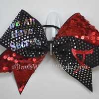 "3"" Wide Luxury Cheer Bow - Pretty Little Liars"