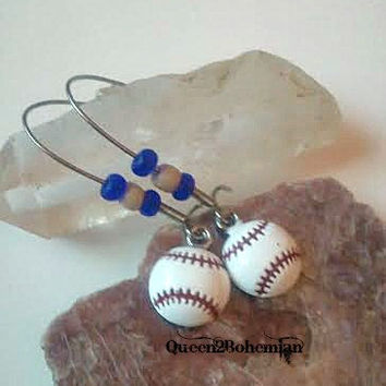 Brewers Baseball Earrings,Baseball Season,Sports Lover Gift,Sports Mom,National Pastime,Sports Teams Earrings,Ready to Ship,Direct Checkout