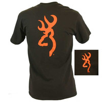 Browning Men's Blaze Orange Buckmark Short Sleeve T-Shirt