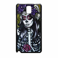 Floral Sugar Skull Day Of The Dead Samsung Galaxy Note 3 Case