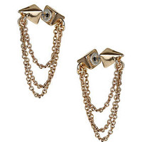 Double Spike Chain Earrings - Jewelry  - Accessories