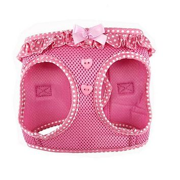 American River Polka Dot Harness — Pink