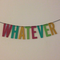 Whatever Handmade Banner