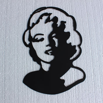 Marilyn Monroe Bust Version 2 Home Theater Movie Decor Metal Wall Accent