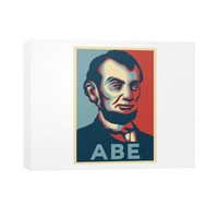 """ABE Lincoln ""Hope"" Design"" Horizontal Canvas"