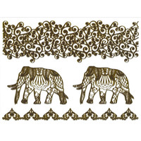 Metallic Elephant Temporary Tattoo Pack Gold One Size For Women 25460644201