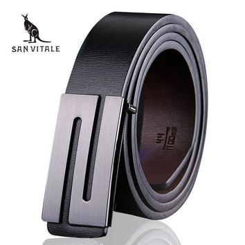 Luxury Smooth buckle belts