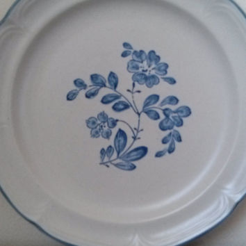 Set of 4 Stoneware Vintage Dinner Plates Finesse Warwick SY-7701 Made in Japan
