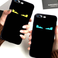 Fendi is the Devil's Eye Devil's Eye small Devil iphone7plus mobile phone iphone8 creative silicone hip iphone7