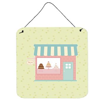 Bake Shoppe on Green Wall or Door Hanging Prints BB7299DS66