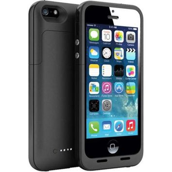 Black Charger Case Backup Battery For iPhone 5 5S 2 Years Warranty
