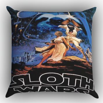 Sloth Wars X0790 Zippered Pillows  Covers 16x16, 18x18, 20x20 Inches