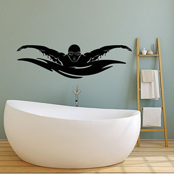 Vinyl Wall Decal Water Sports Olympic Games Pool Swimming Stickers (3403ig)