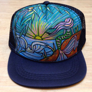 Mermaid Trucker Hat by Roupoli Roupolimama