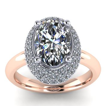 Final Payment  for Harrow Gem Center Stone Oval Engagement Ring -  Rome OVAL