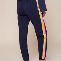 JXJC Juicy Logo Rainbow Stripe Terry Pant