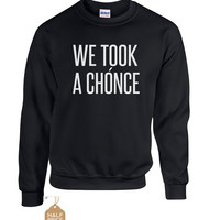 We took a chonce - sale ! ultra soft crew neck sweatshirt sizes youth large to plus sizes