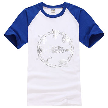 game of thrones t shirts men raglan sleeve tops 2017 summer funny new fashion homme drake cotton casual hipster harajuku shirts