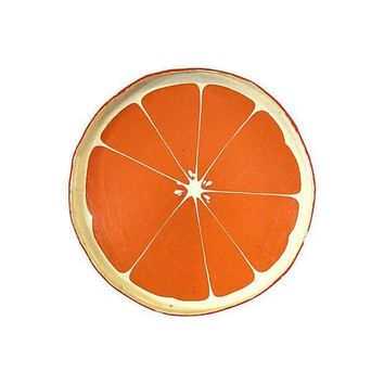 Pre-owned Orange Slice Serving Tray