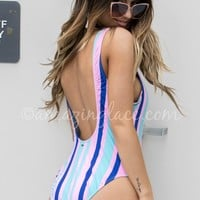 With The Flow Multi Stripe One Piece