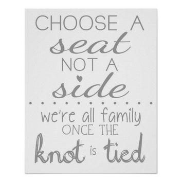 Wedding Seating Sign | Poster