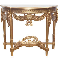 """Laurel"" French Reproduction Baroque Louis XV Style Rococo Inspired Console Table"