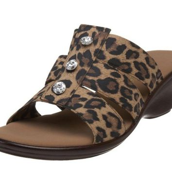 Onex Miley Brown Leopard Sandals