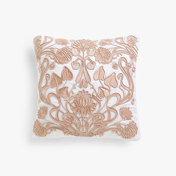 Embroidered cushion cover with decorative raised design - Throw Pillows - BEDROOM | Zara Home United States of America