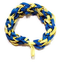 MLB Milwaukee Brewers Sports Bracelet - Blue and Yellow Rubber Band Bracelet - STL Rams, Indiana Pacers