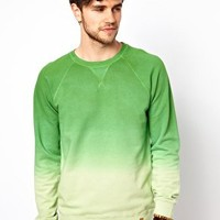Esprit Green Sweatshirt With Dip Dye