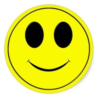 Big Yellow Smiley Face-Round Stickers