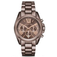 Oversized Bradshaw Rose-Gold-Tone Sable Watch | Michael Kors