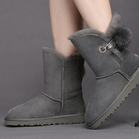Best Sale Online UGG GREY Limited Edition Classics Boots IRINA Women Shoes 1017502