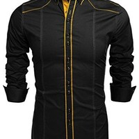 Men's Button Down Dress Shirts Coofandy Casual Slim Fit Shirts
