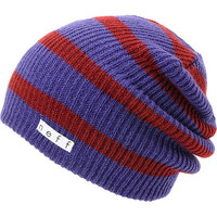 Neff Daily Navy & Maroon Stripe Beanie at Zumiez : PDP