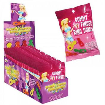 Gummy Finger Ring Dongs -12 Count Display