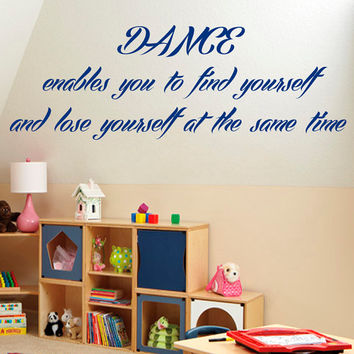 Dancing Words Wall Decals Quotes Gym Dance Studio Wall Decor Vinyl Sticker Home Decor Vinyl Art Wall Decor Girl Bedroom Nursery Decor KG32