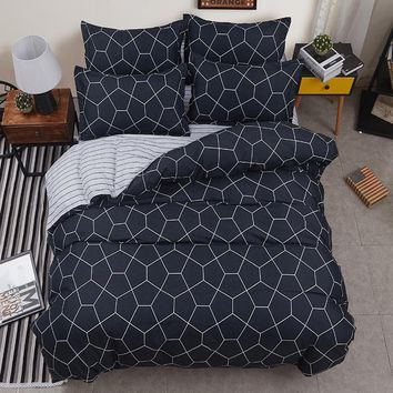 Cotton Bedspreads Quilted Quilt 2pcs Pillowcase Duvet Cover Air Conditioner Blanket bed cover King Queen Twin Full Size 4pcs/set