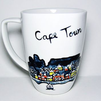 Cape Town Africa artwork - Unique Long Distance Mug