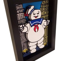 Ghost Busters Stay Puft Marshmallow Man 3D Pop Art - Handmade in the USA