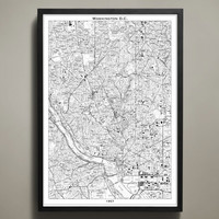 Map Print, WASHINGTON DC