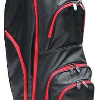 RJ Sports Starter Golf Bag 9 Inches Cart Bag - Black/Red CC-490