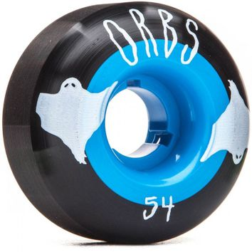 Welcome Orbs Poltergeists Skateboard Wheels - 54mm 102A - Black With Teal Core - Set of 4