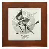 The Hunger Games Mockingjay BW SQ Framed Tile