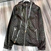 LV 2019 new full printed logo wild casual hooded jacket