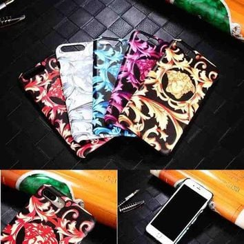 CREYUP0 Versace Fashion Logo Print iPhone Phone Cover Case For iphone 6 6s 6plus 6s-plus 7 7plus3