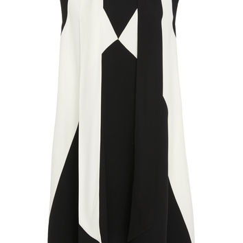 Two-Tone Crepe Dress | Moda Operandi