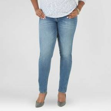 Women's Plus Size Indigo Skinny Jean Dark Blue Wash - Crafted by Lee